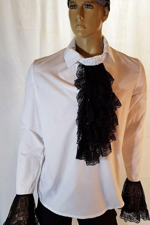 Oswald Lace Frill Shirt White