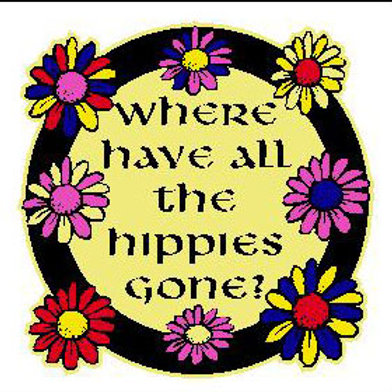 USR05 Where Have All The Hippies Gone? Window Sticker