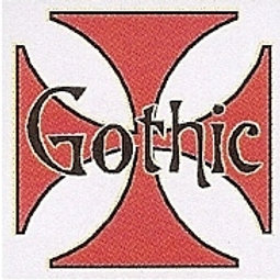 GCP35 Gothic (Iron Cross) Window Sticker
