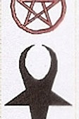 PWD03 Goats Head Symbol Window Sticker