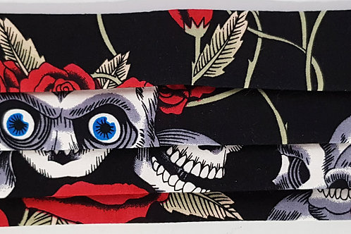 Skull Rose Eyes Folded Mask