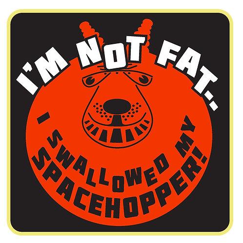 65  I'm Not Fat I Swallowed My Spacehopper Window Sticker