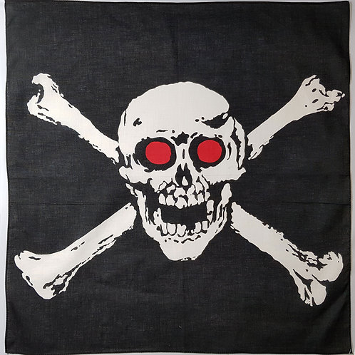Bandana With Large Red Eyed Skull