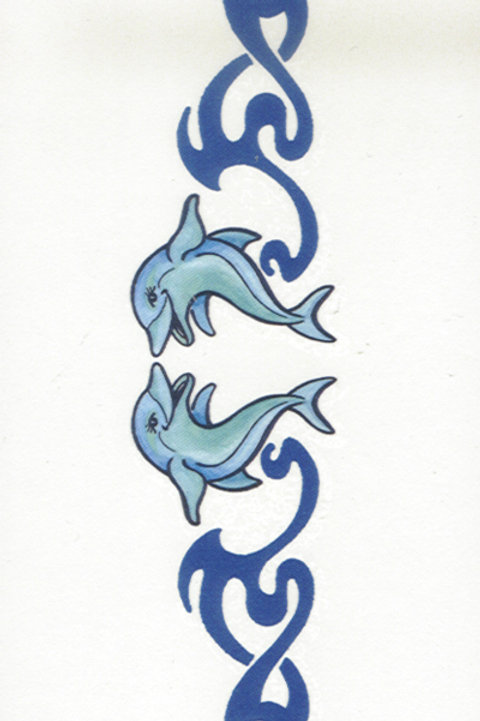 2  Dolphins Armband Tattoo