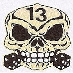 GCP33 Skull 13 Window Sticker