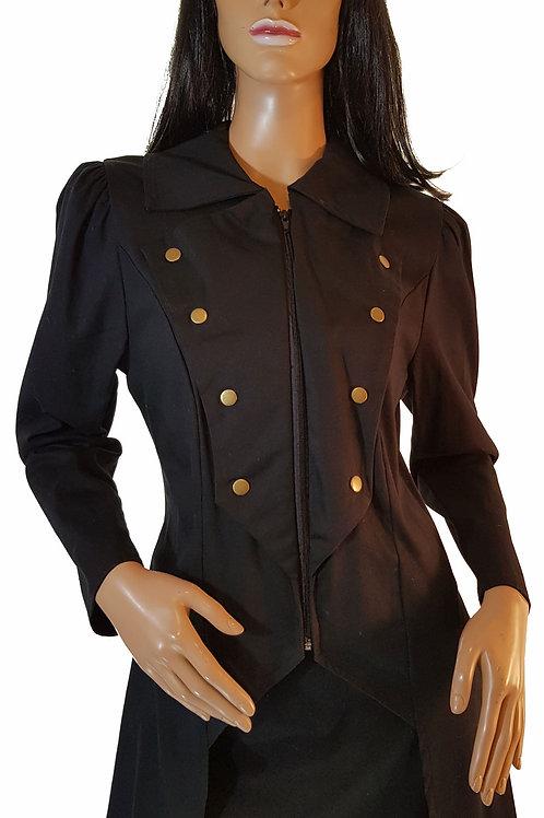 Golden Steampunk Canvas Cabaret Jacket