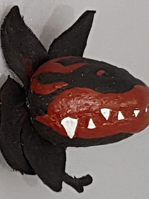 Bloomin' Horrors Magnet Black