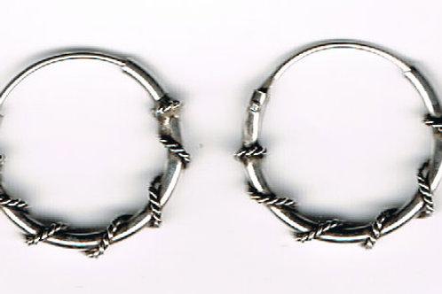 Hoop Wire Twist Earrings