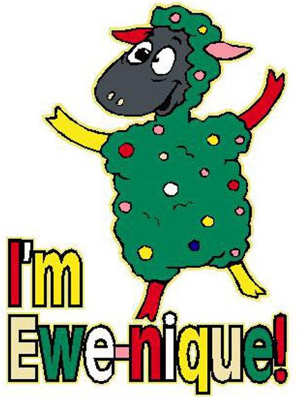 SH13 I'm Ewe-nique Window Sticker