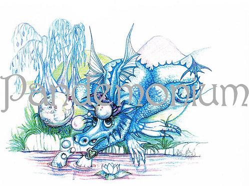 Pisces Zodiac Dragon Card