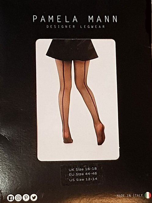 Pamela Mann Back Seam Net Tights 16-18