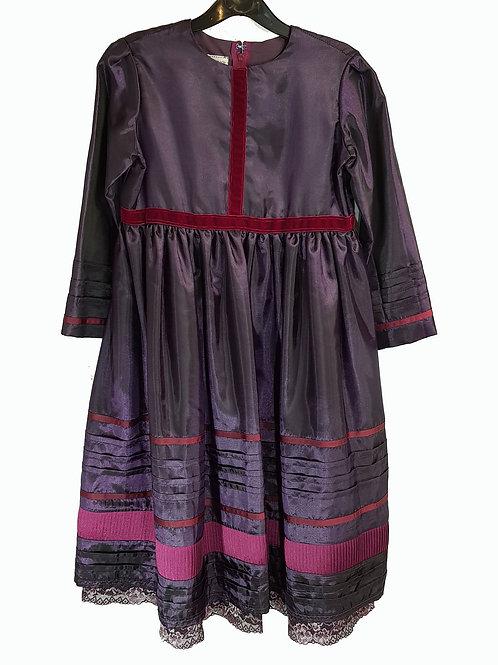 Childs Dress Aubergine