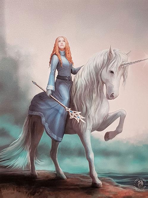 Anne Stokes Wall Plaque Moonlight Unicorn