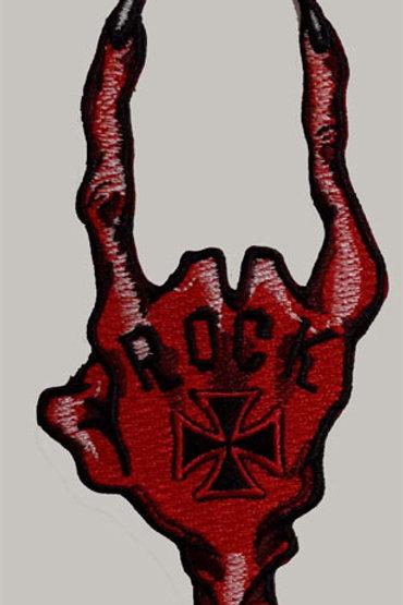 Rock Devil Horns Patch