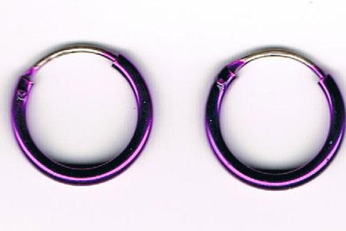 Purple Hoop Earrings (pair)