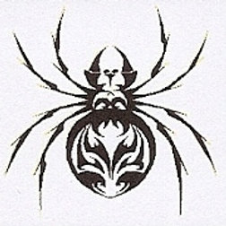 GCP30 Tribal Spider Window Sticker