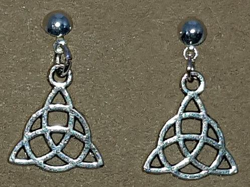Triquetra Drop Earrings