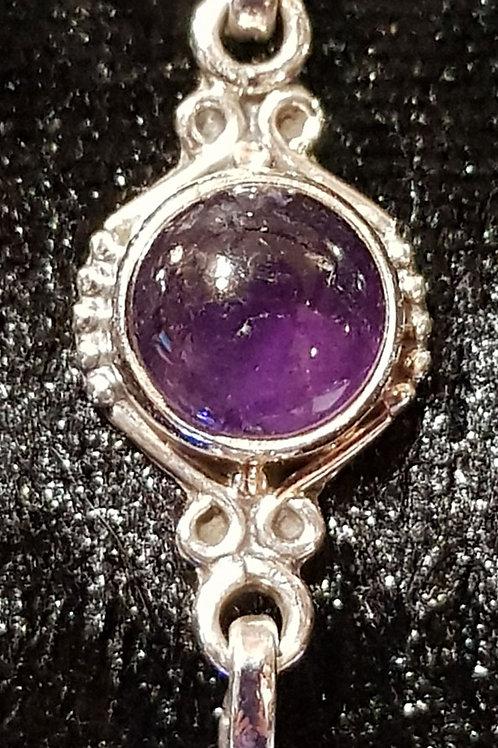 Amethyst Bracelet 925 Silver