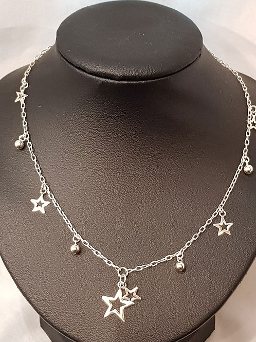Star Necklace 925 Silver