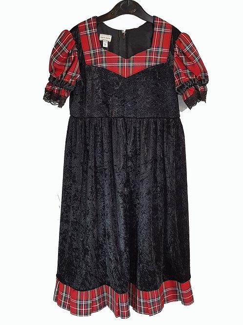 Childs Dress Black And Tartan