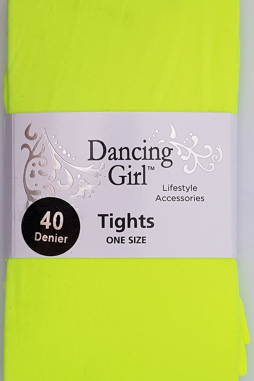 40 Denier Tights Flo Yellow