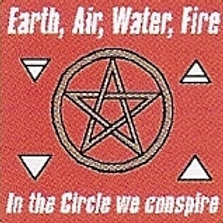 PWD28 Earth Air Water Fire Window Sticker