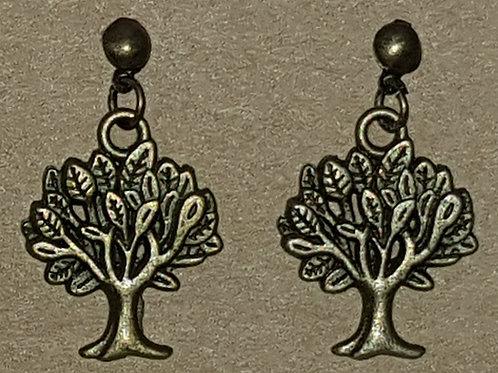 Tree Drop Earrings