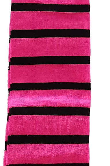 Over The Knee Socks Black And Pink