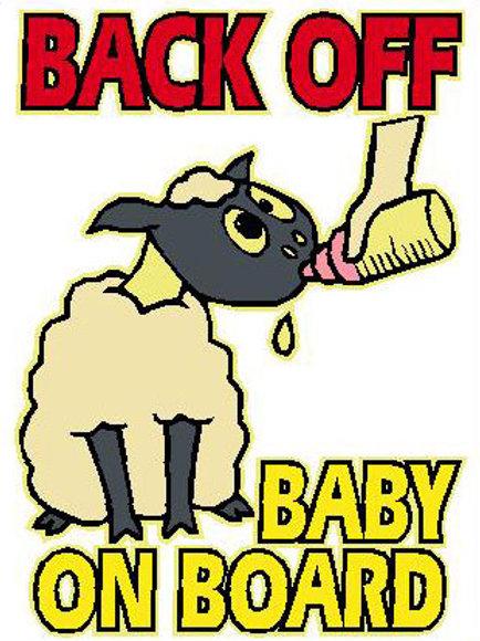 SH22 Back Off Baby On Board Window Sticker