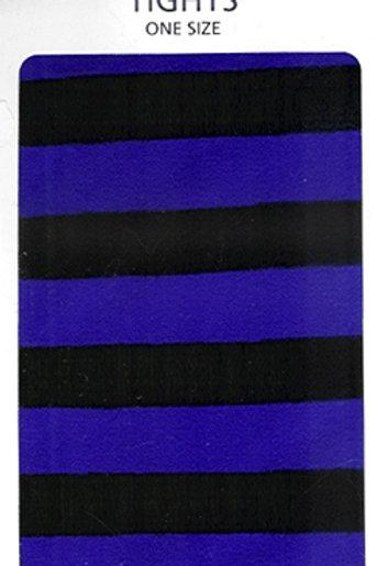 Striped Tights Black & Flo Purple
