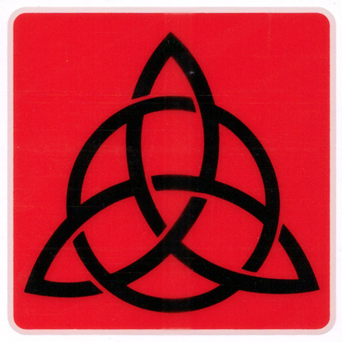 PWD38  Triquetra Window Sticker