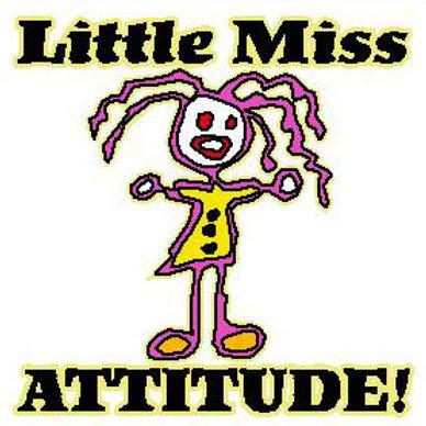 USR17 Little Miss Attitude! Window Sticker
