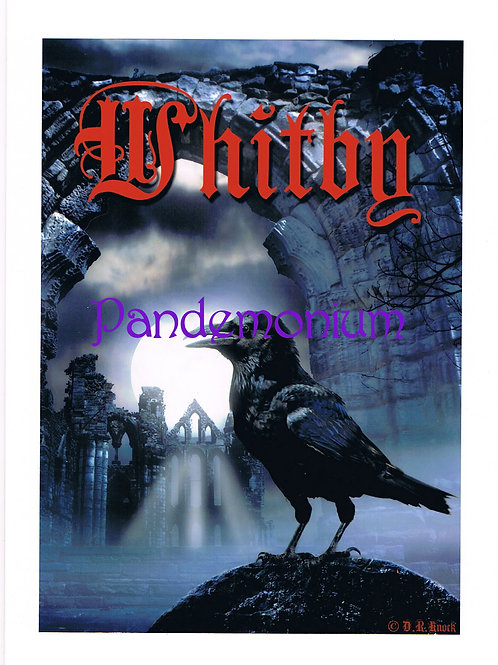 Raven At Whitby Abbey Card