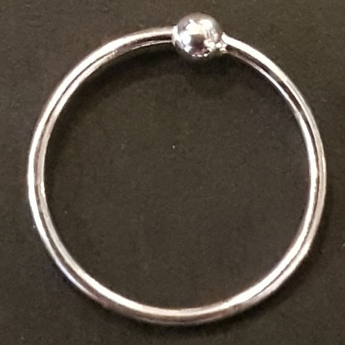 Nose Ring 12mm Silver