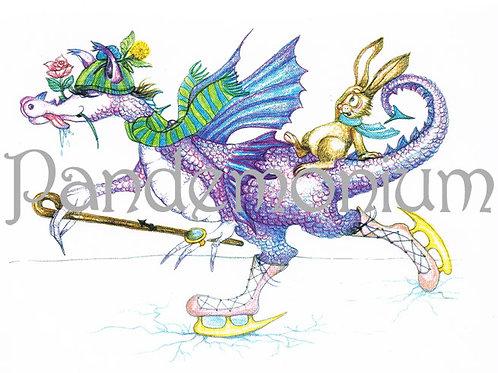 Saggitarious Zodiac Dragon Card
