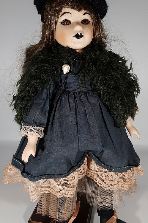 Gothic Victorian Doll On Stand