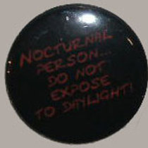 Button Badge Nocturnal Person