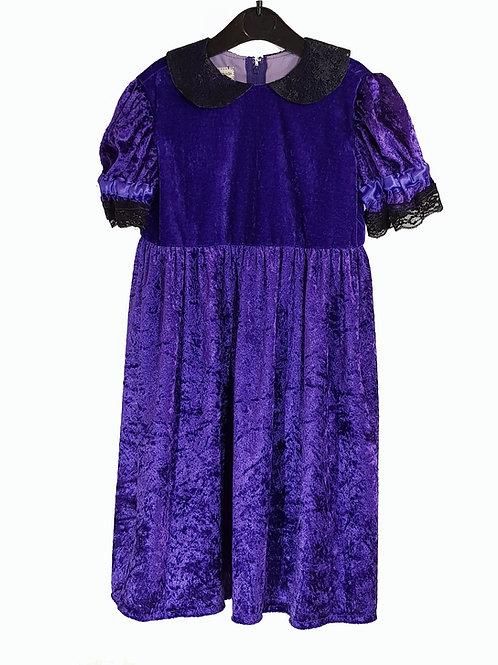 Childs Dress Purple Velvet