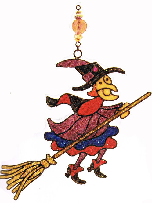 Light Catcher Witch On A Broom
