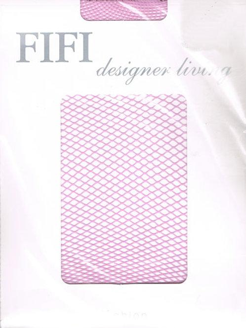 FiFi Fishnet Tights (Pink)