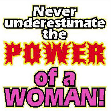 USR15 Never Underestimate The Power Of A Woman Window Sticker