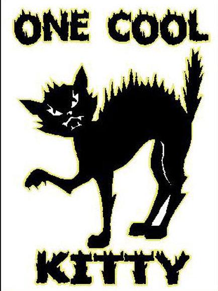 MA12  One Cool Kitty Window Sticker