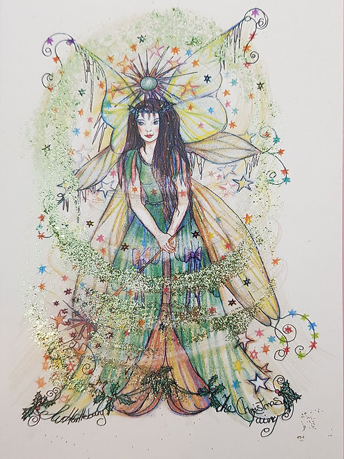 Glitter Christmas Fairy Card