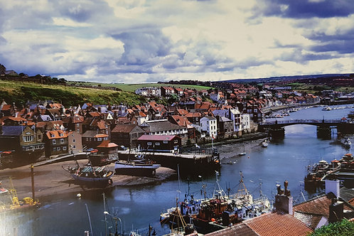 Whitby Harbour In Glorious Colour Card