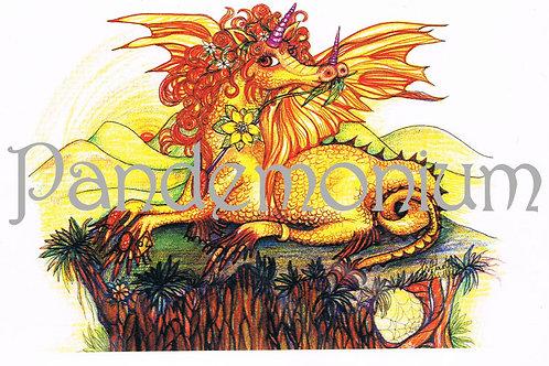 Leo Zodiac Dragon Card