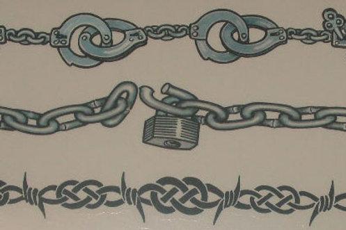 Barbs ,Chains,Cuffs Armband Tattoo