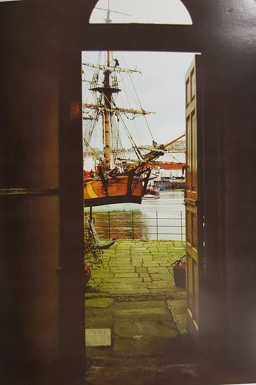 Whitby Endeavour Through Doorway Card