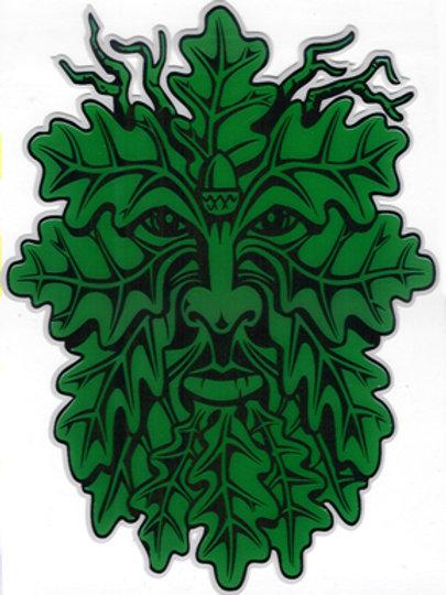 PWD 48 Green Man Window Sticker