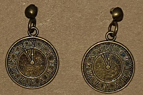Clock Drop Earrings