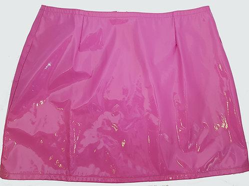 PVC Hipster Mini Skirt Pink